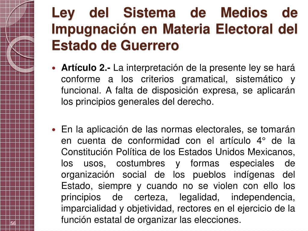 Ley del Sistema de Medios de Impugnación en Materia Electoral del Estado de Guerrero