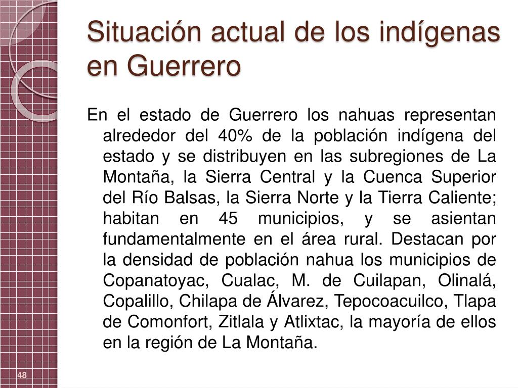 Situación actual de los indígenas