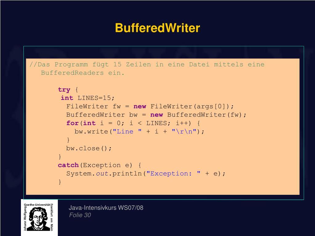 BufferedWriter