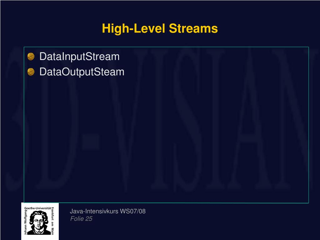 High-Level Streams
