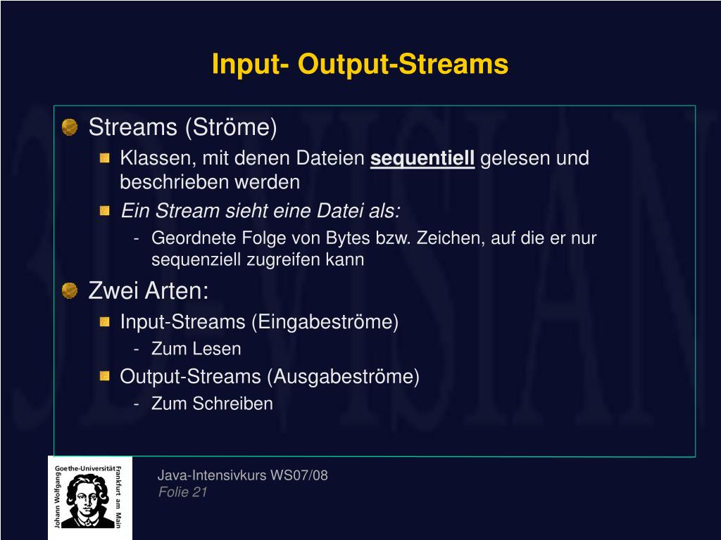 Input- Output-Streams