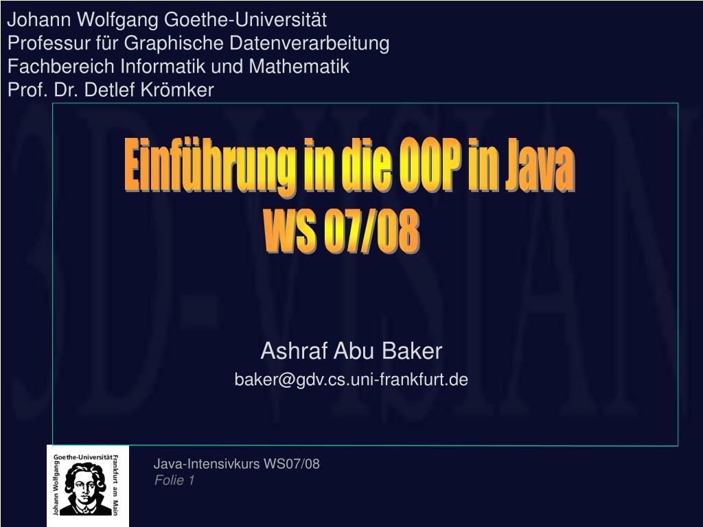 Johann Wolfgang Goethe-Universität