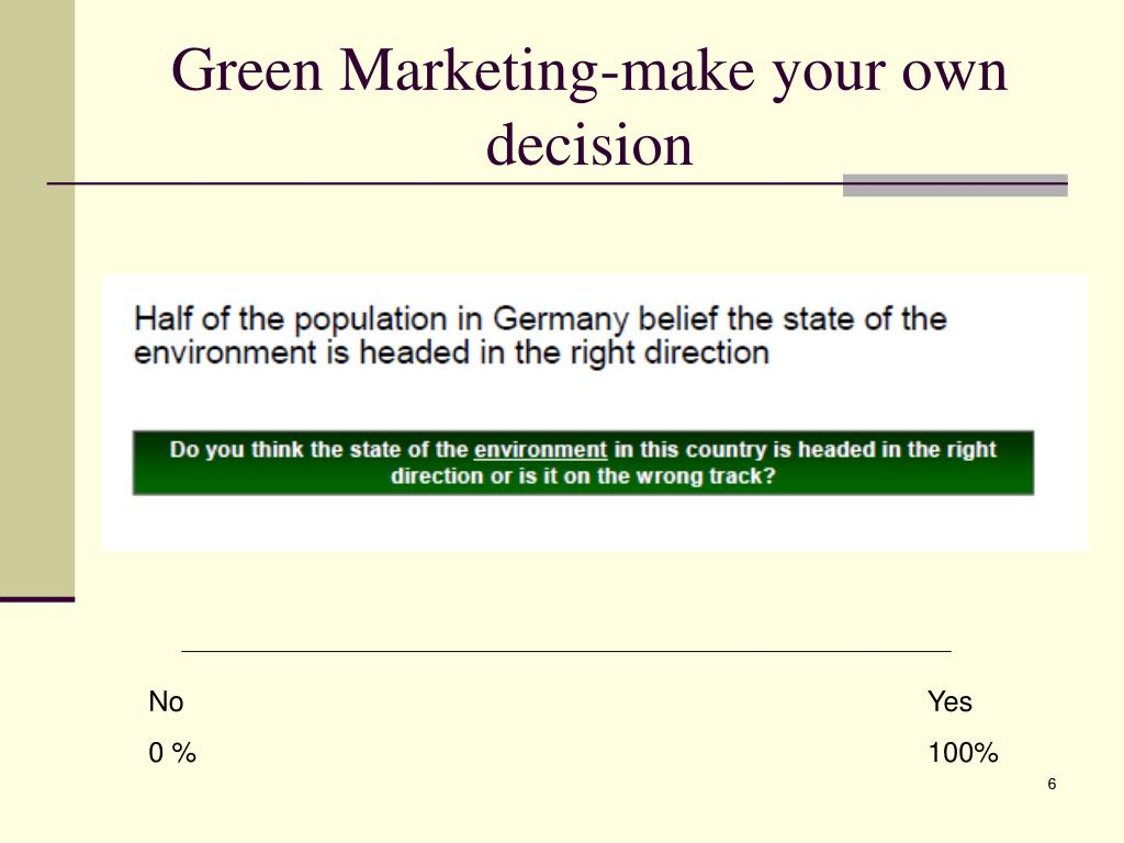 Green Marketing-make your own decision