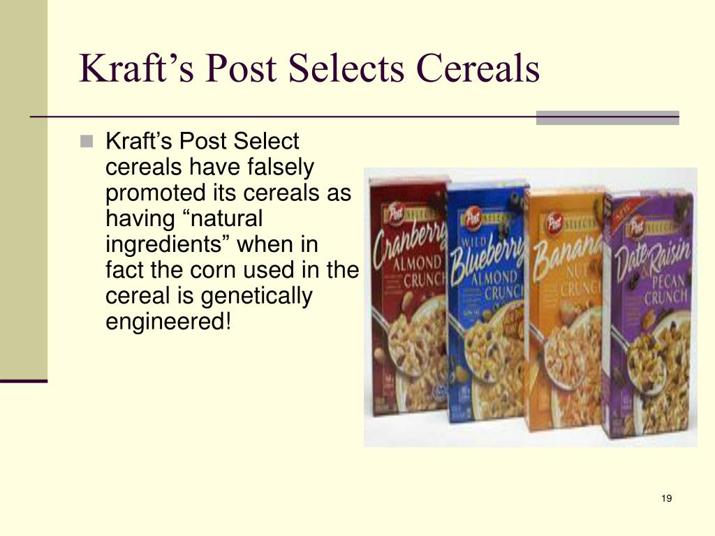 Kraft's Post Selects Cereals