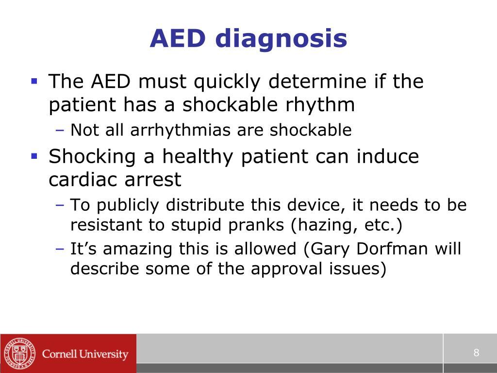 AED diagnosis
