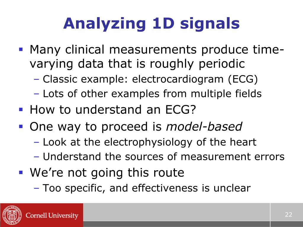 Analyzing 1D signals