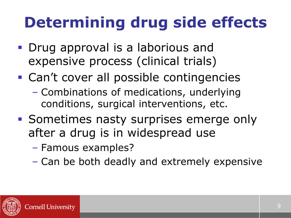 Determining drug side effects