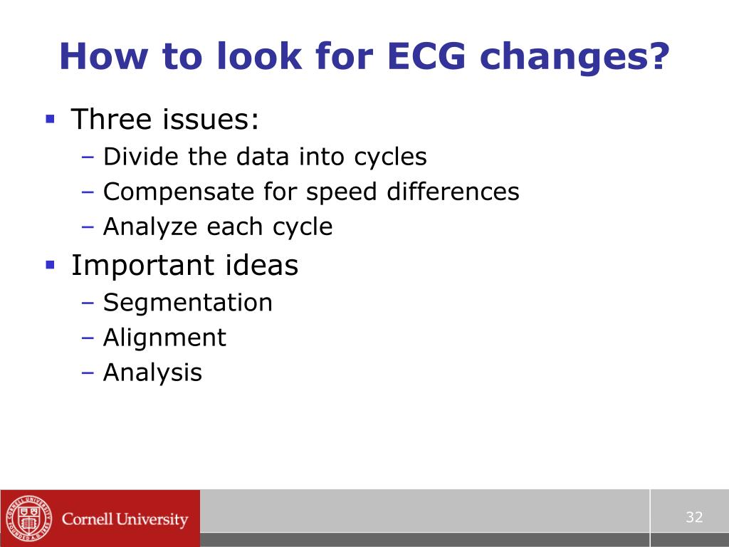 How to look for ECG changes?
