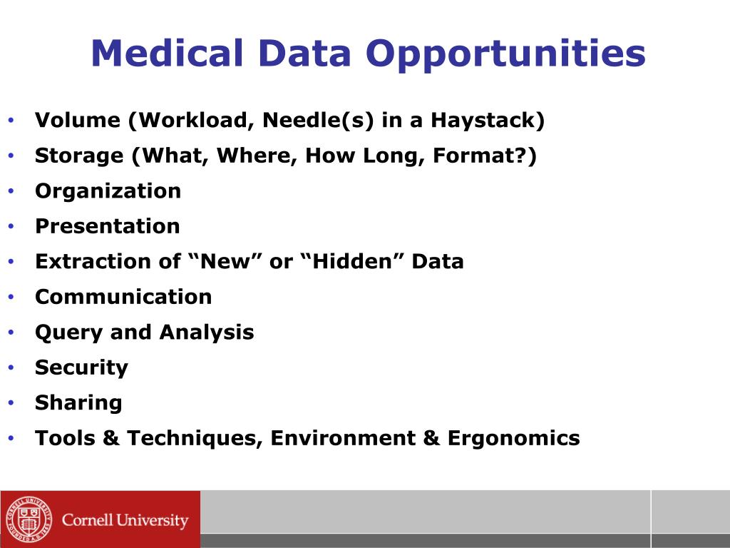 Medical Data Opportunities