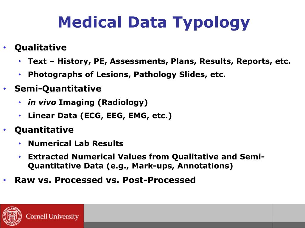 Medical Data Typology