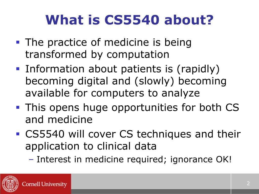 What is CS5540 about?