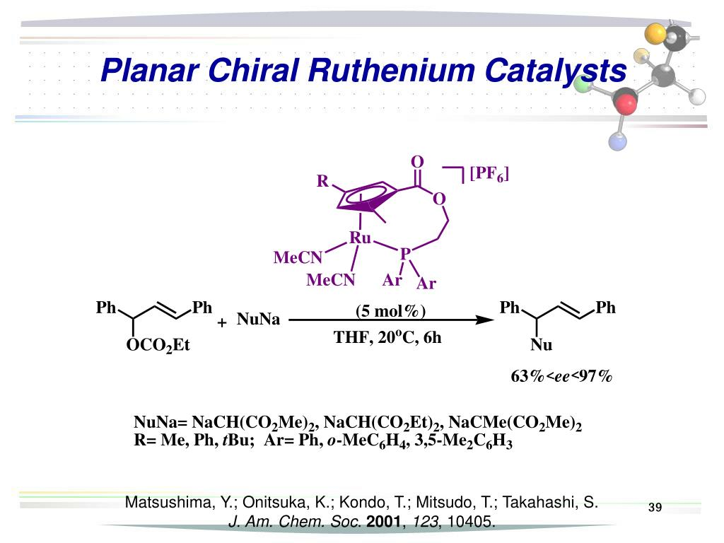 Planar Chiral Ruthenium Catalysts