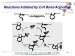 reactions initiated by c h bond activation