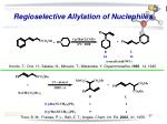 regioselective allylation of nuclephiles