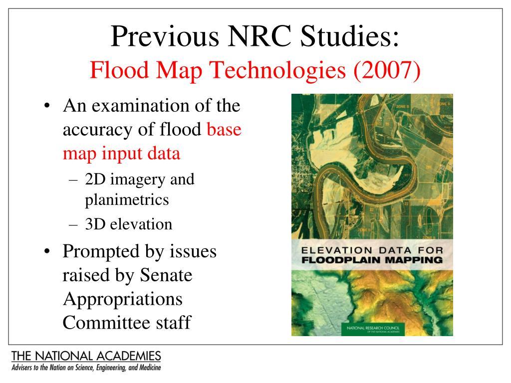 Previous NRC Studies: