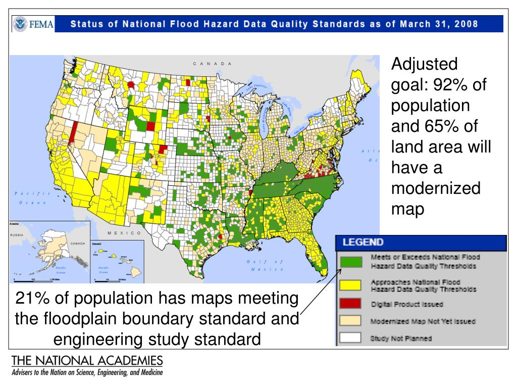 Adjusted goal: 92% of population and 65% of land area will have a modernized map