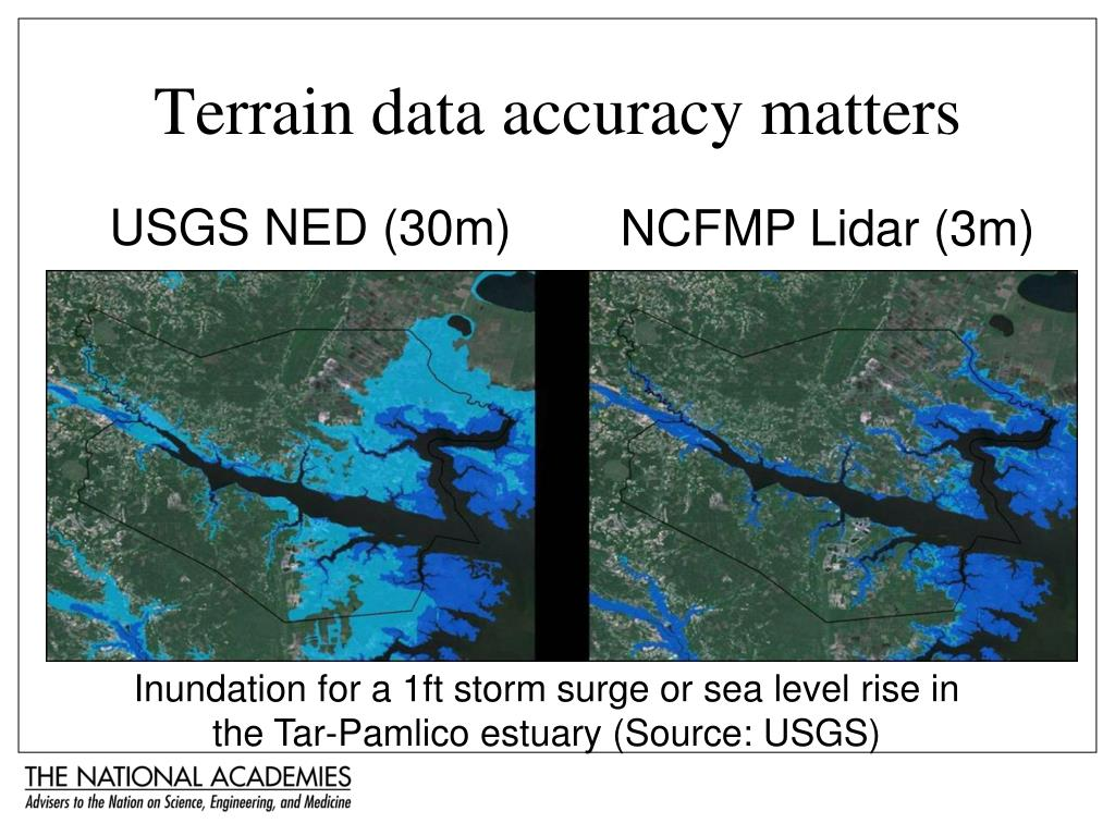 Terrain data accuracy matters