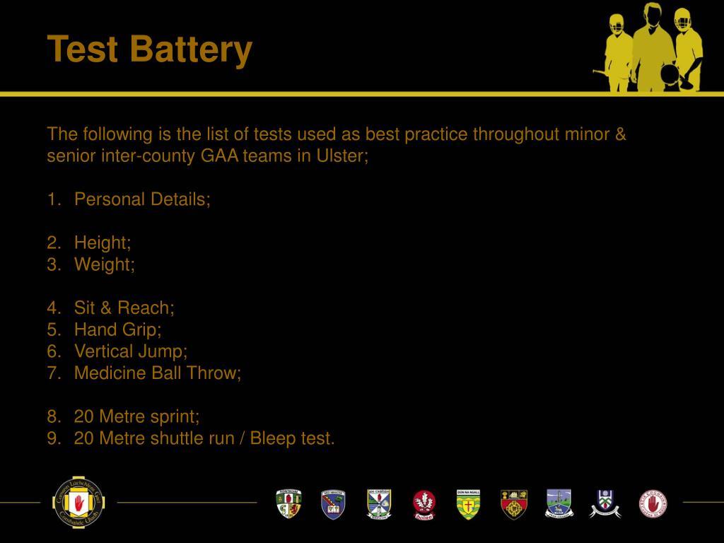 Test Battery