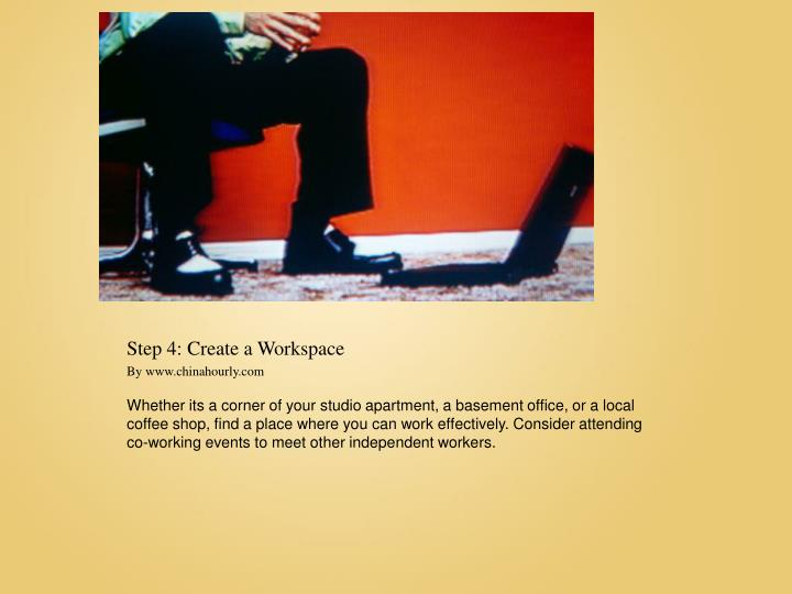 Step 4: Create a Workspace