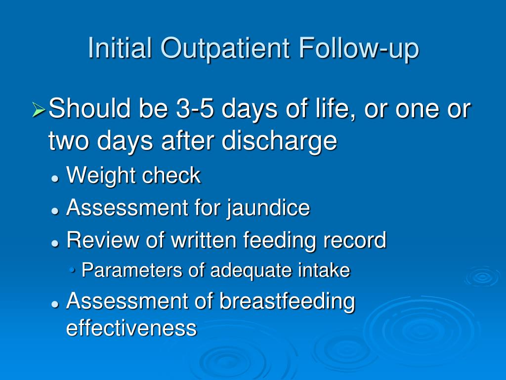 Initial Outpatient Follow-up