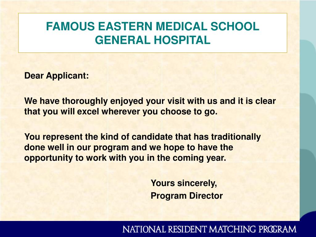 FAMOUS EASTERN MEDICAL SCHOOL