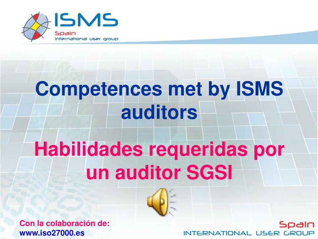 Competences met by ISMS auditors