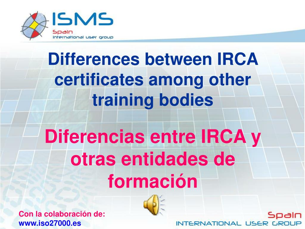 Differences between IRCA certificates among other training bodies