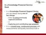 in a knowledge powered service desk