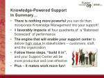 knowledge powered support in summary
