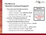 the move to solution centered support8