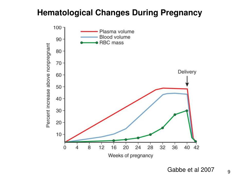 Hematological Changes During Pregnancy