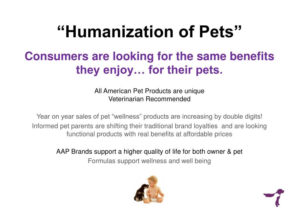 """""""Humanization of Pets"""""""