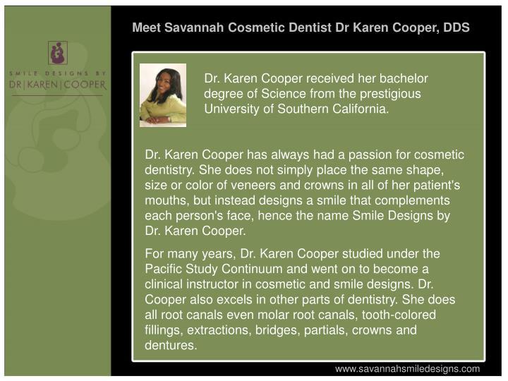 Meet Savannah Cosmetic Dentist Dr Karen Cooper, DDS