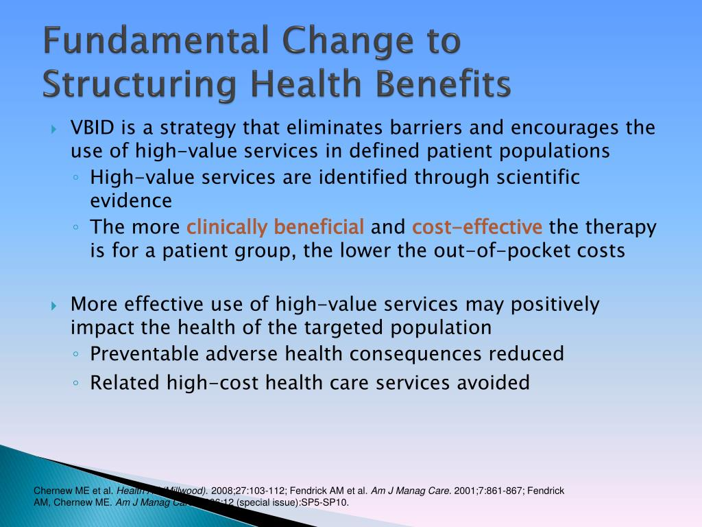 Fundamental Change to Structuring Health Benefits