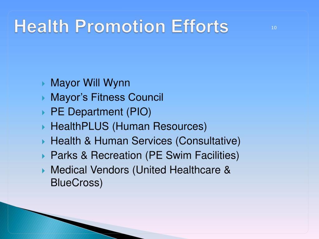 Health Promotion Efforts