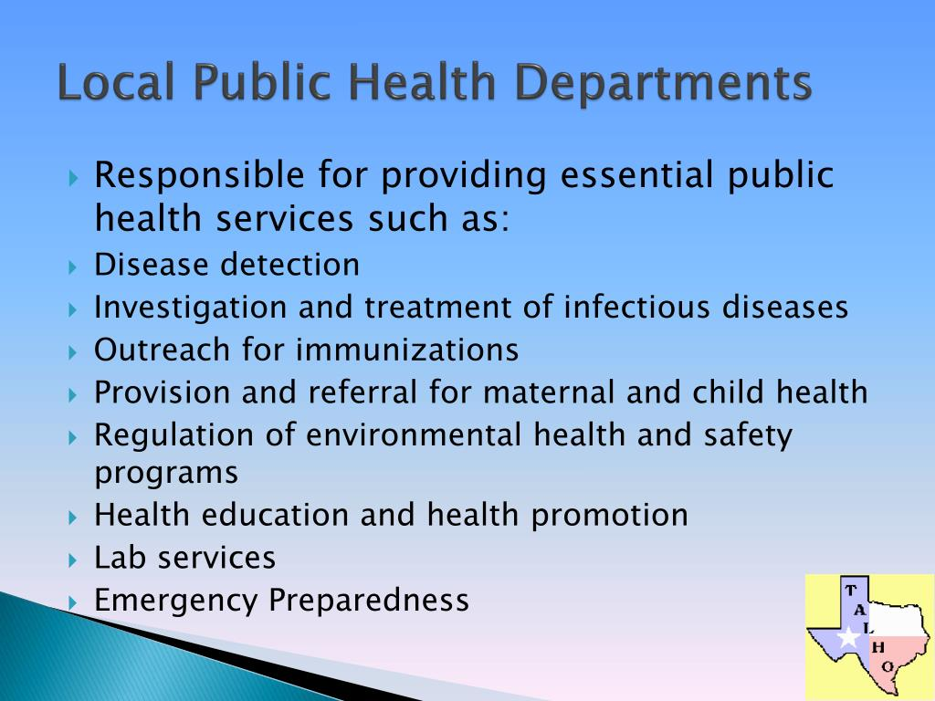 Local Public Health Departments