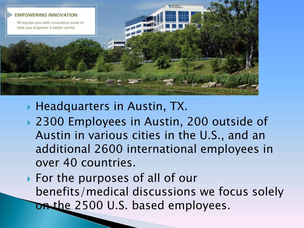 Headquarters in Austin, TX.