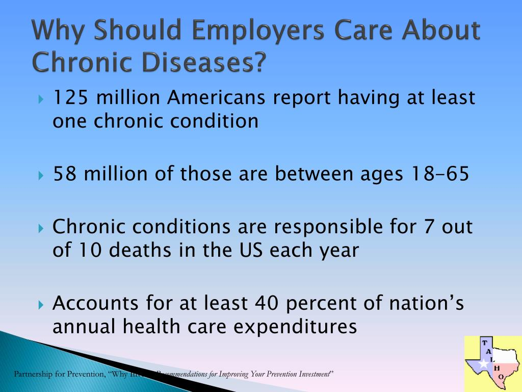 Why Should Employers Care About Chronic Diseases?