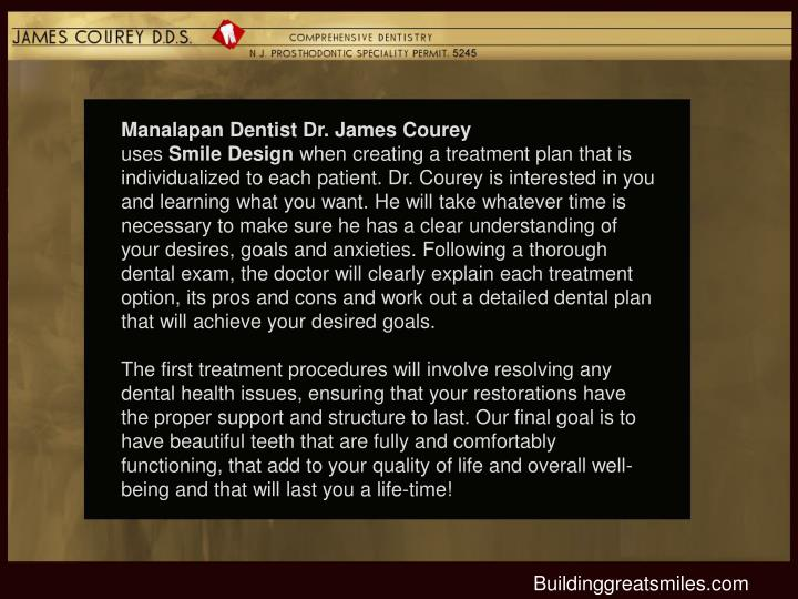 Manalapan Dentist Dr. James Courey