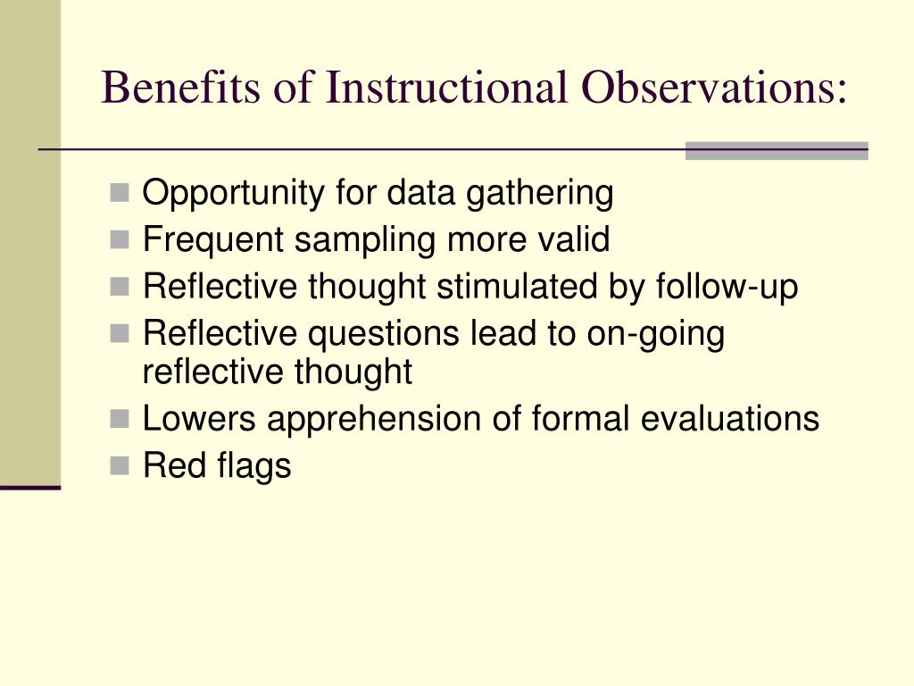 Benefits of Instructional Observations: