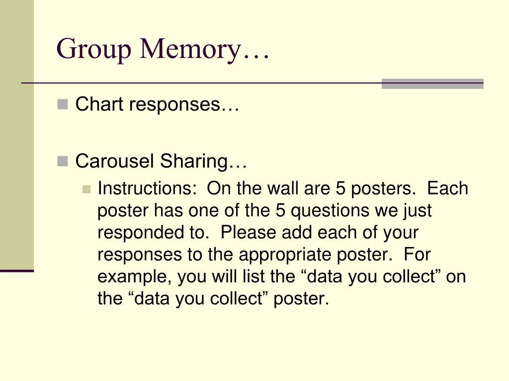 Group Memory…