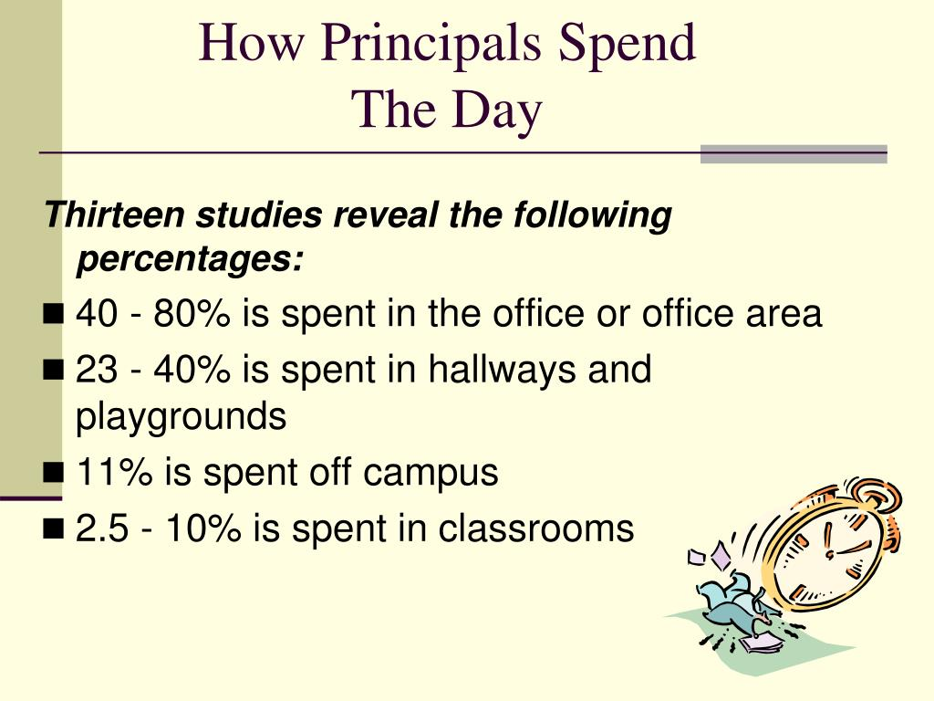 How Principals Spend