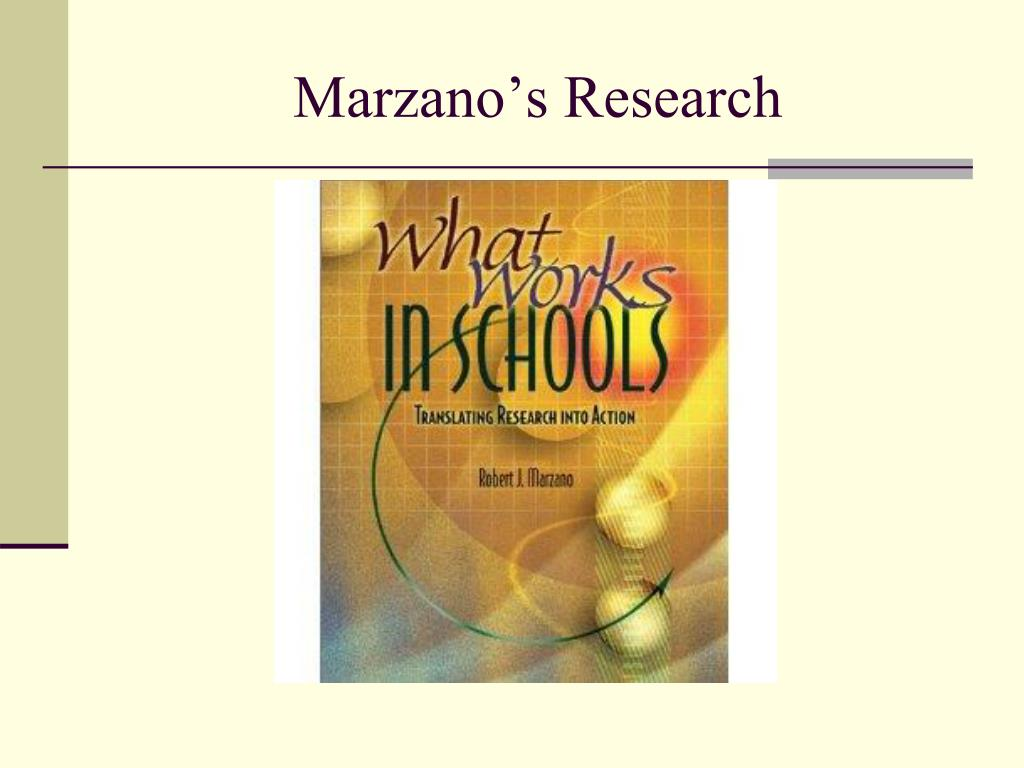 Marzano's Research