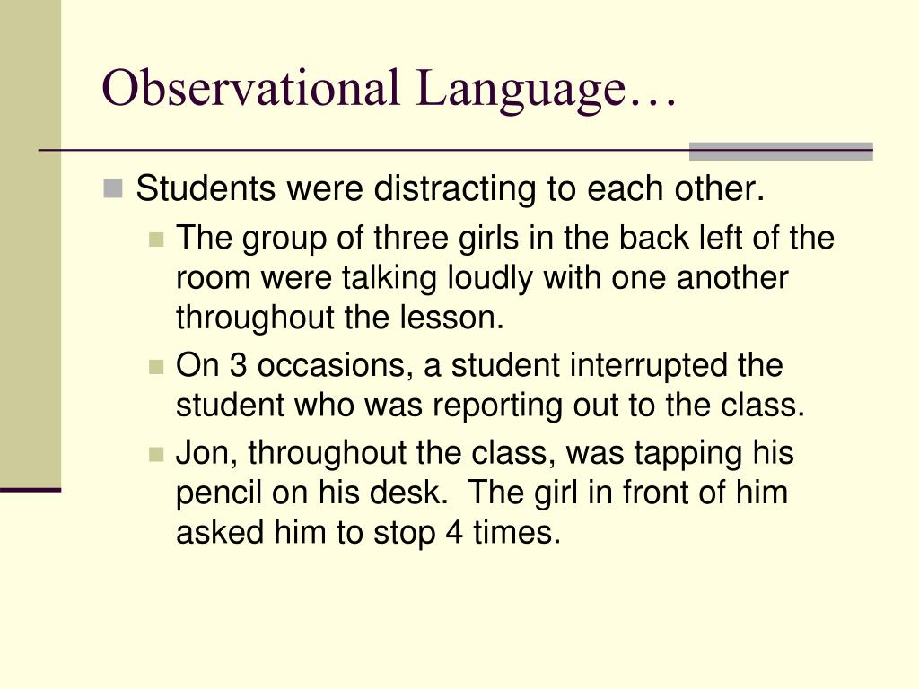 Observational Language…