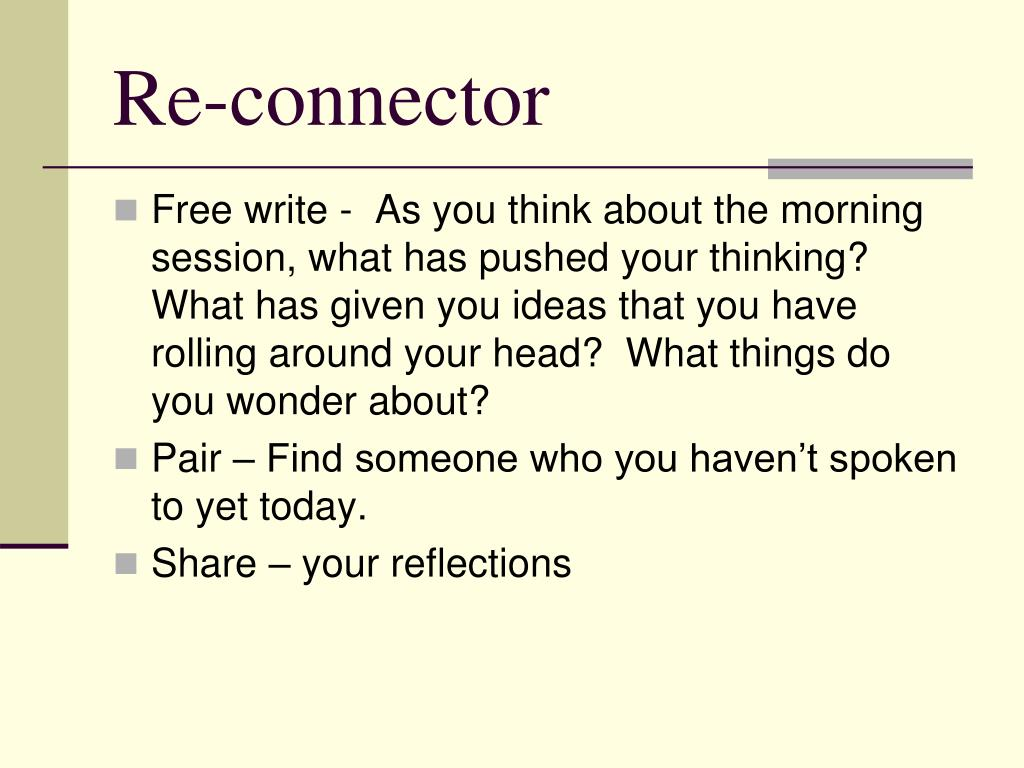 Re-connector