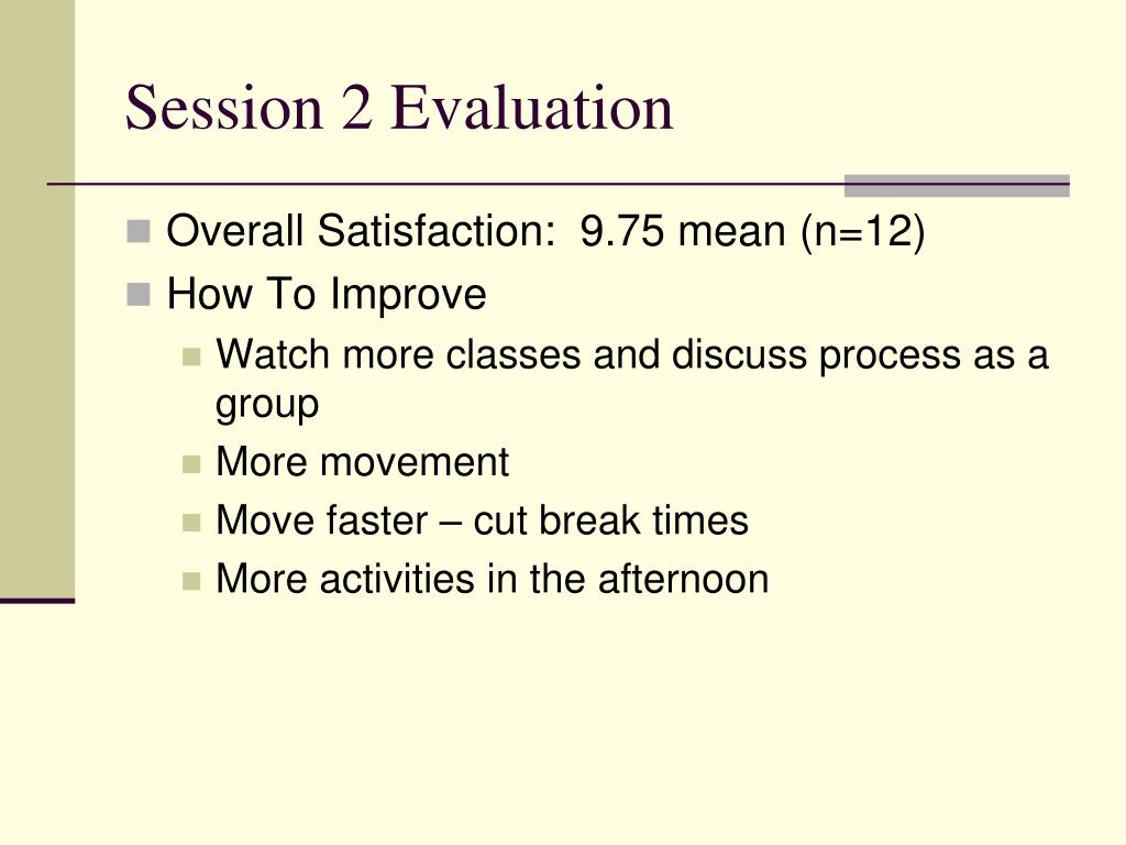 Session 2 Evaluation