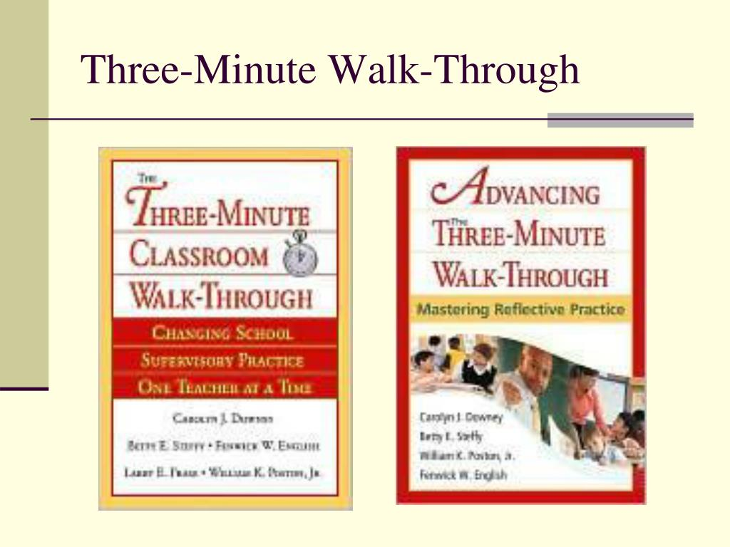Three-Minute Walk-Through