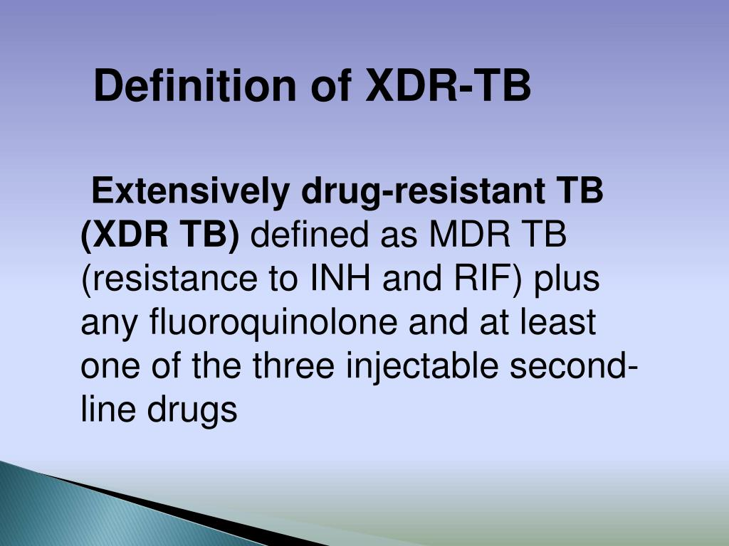 Definition of XDR-TB