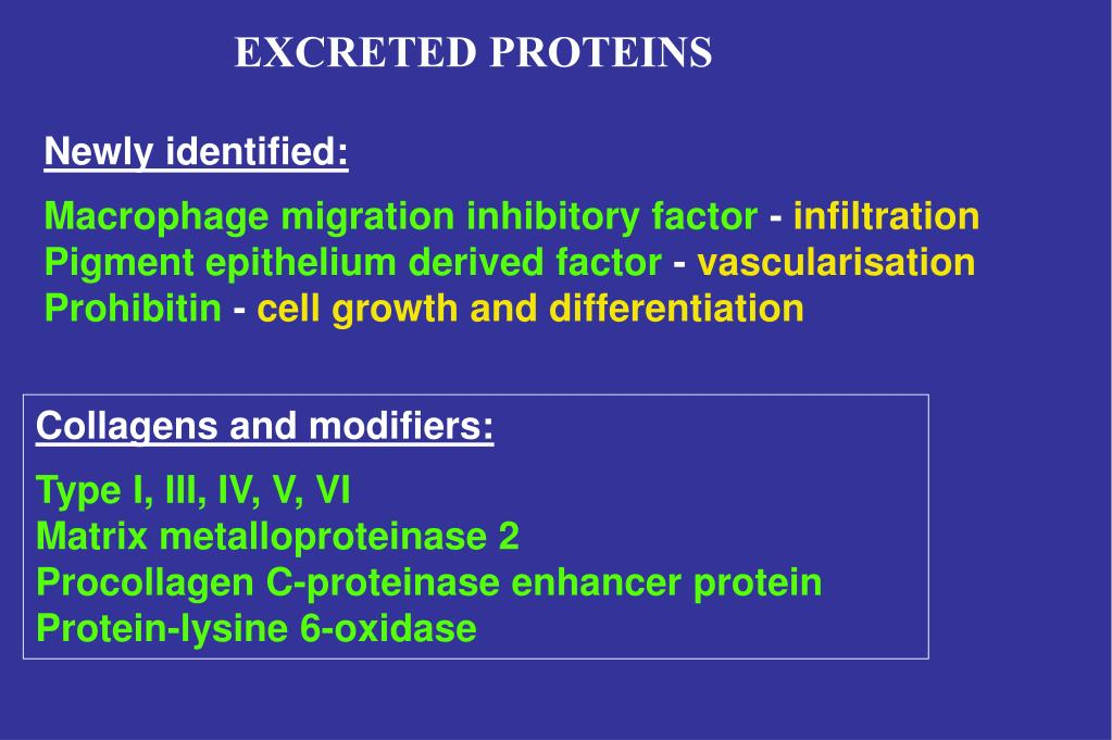 EXCRETED PROTEINS