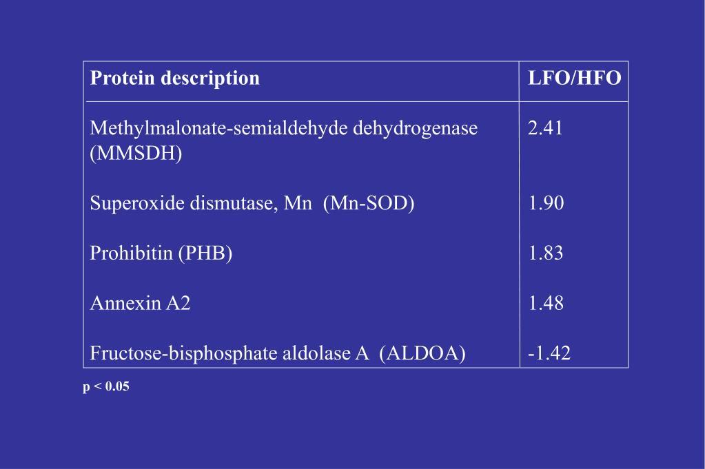 Protein descriptionLFO/HFO